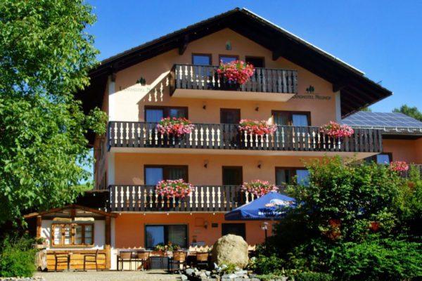 neuhof 3 sterne landhotel bayerischer wald hausansicht panorama 1200